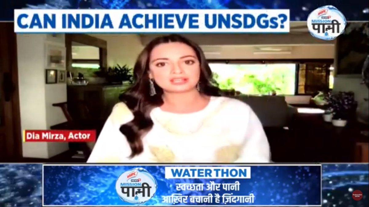 Actor Dia Mirza (@deespeak) joins @harpic_india-News18 #MissionPaani Waterthon in the fight to save water.  #MeriJalPratigya  LIVE Updates: