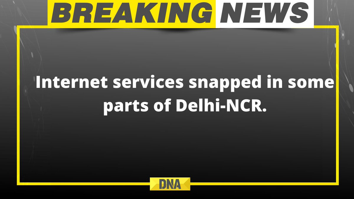 #BREAKING | Internet services snapped in some parts of Delhi-NCR  #tractorParade #TractorMarchDelhi #TractorMarch