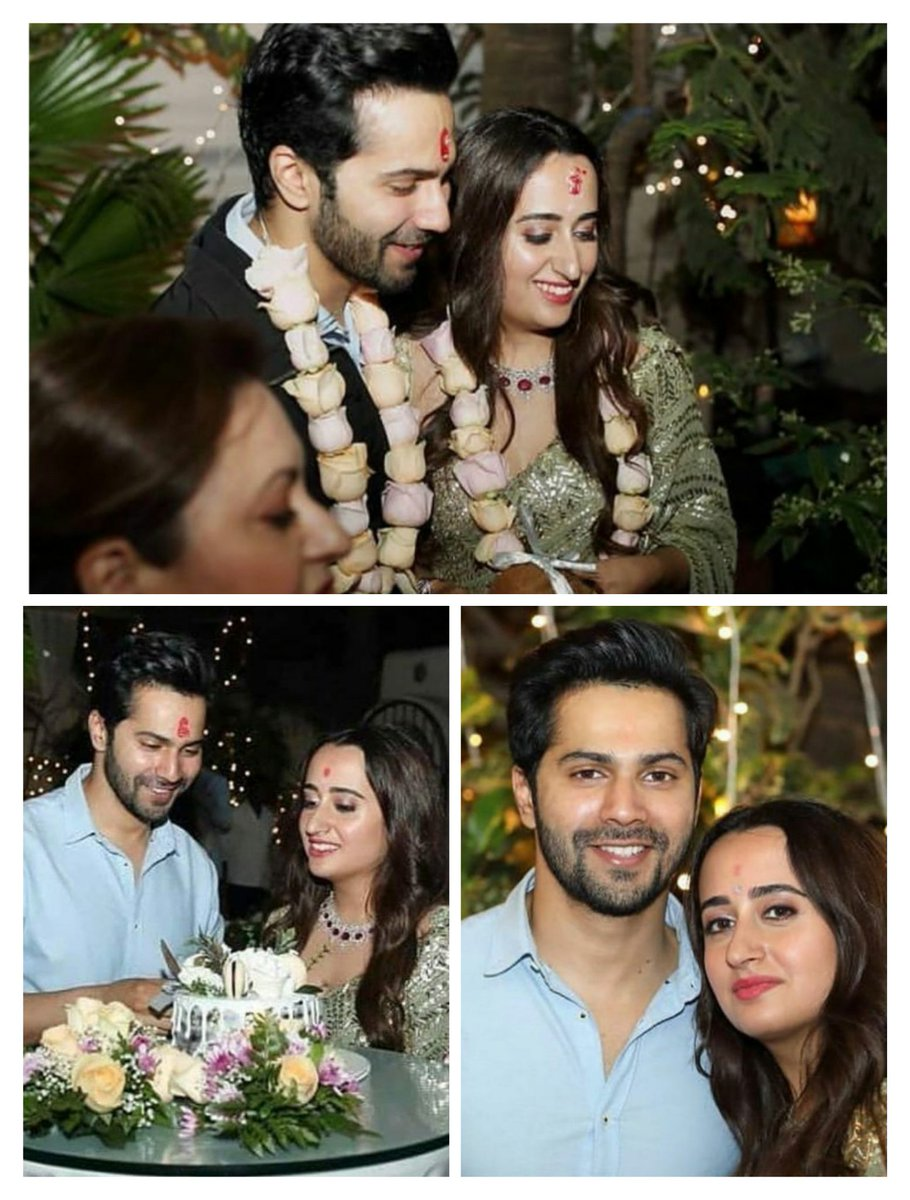 Glimpses of Roka ceremony ✨❤ @Varun_dvn Hmm toh yeh thi birthday party? Nahi?  Anyways such a beautiful and adorable pair 😭💙