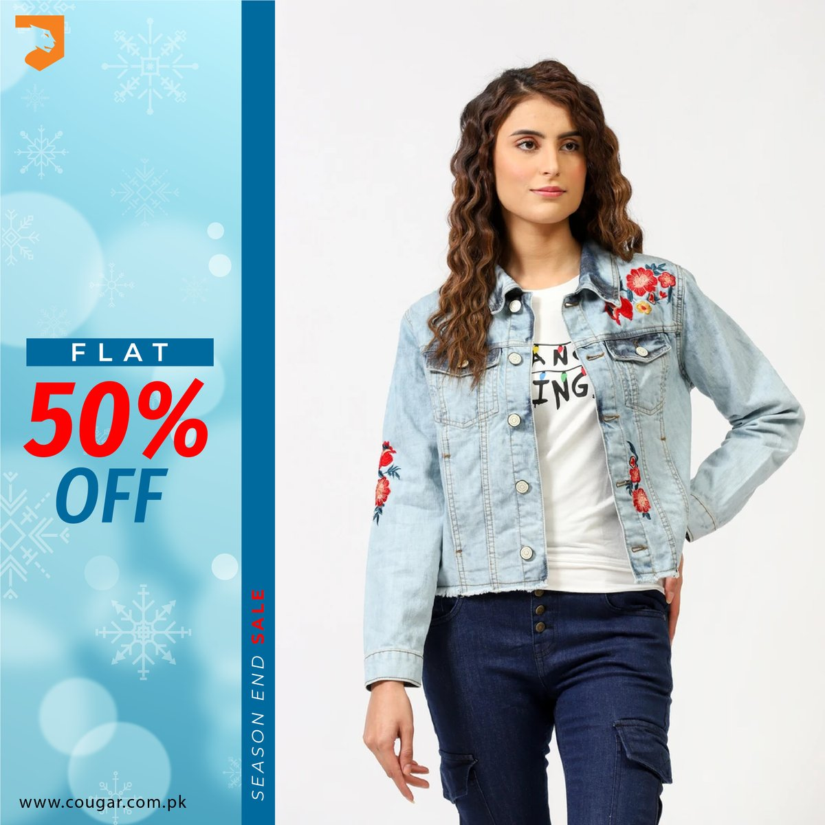 Season End Sale! FLAT 50% OFF on entire stock. For more details:    #cougarclothing #cougarcrew #jointhecrew #eoss #sale #denim #onlineshopping