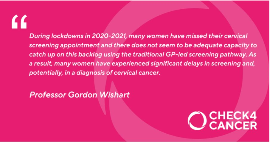 At-home #HPV testing for #cervicalcancer screening could help many patients who have missed their cervical screening during lockdown. Interesting read from @ProfWishart on the potential to cut NHS backlogs with at home tests.  @Check4Cancer