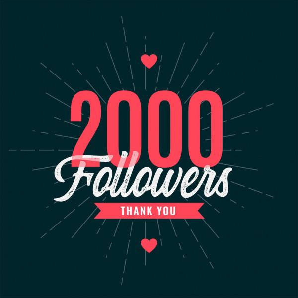 2K!!! Gracias y 2000 gracias, es un honor y placer poder compartir eso con tod@s. Vamos a por más juntos, crecer juntos, sdv, rts🔄 y fav❤. Demonos cariño, demonos difusión y sumemos hasta el ♾. GRACIAS POR CRECER UNIDOS👏👏😁