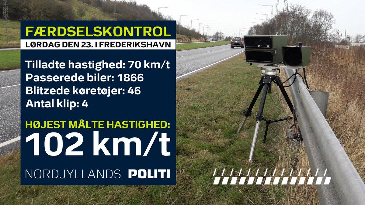 I lørdags var vi fx ude med fotovognen i Frederikshavn. #politidk  Vi var nødt til at udstede klip til de få, der hvilede lidt for hårdt på speederen. Men stort set var kørslen i orden 👍  Går det for hurtigt i dit nabolag? Så bestil en færdselskontrol på: https://t.co/EwiVRHGXTb https://t.co/zY8CDZZYfl