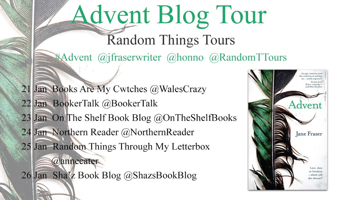 HUGEST THANKS #RandomThingsTours Bloggers for supporting the #Advent by @jfraserwriter Blog Tour with @honno 💚