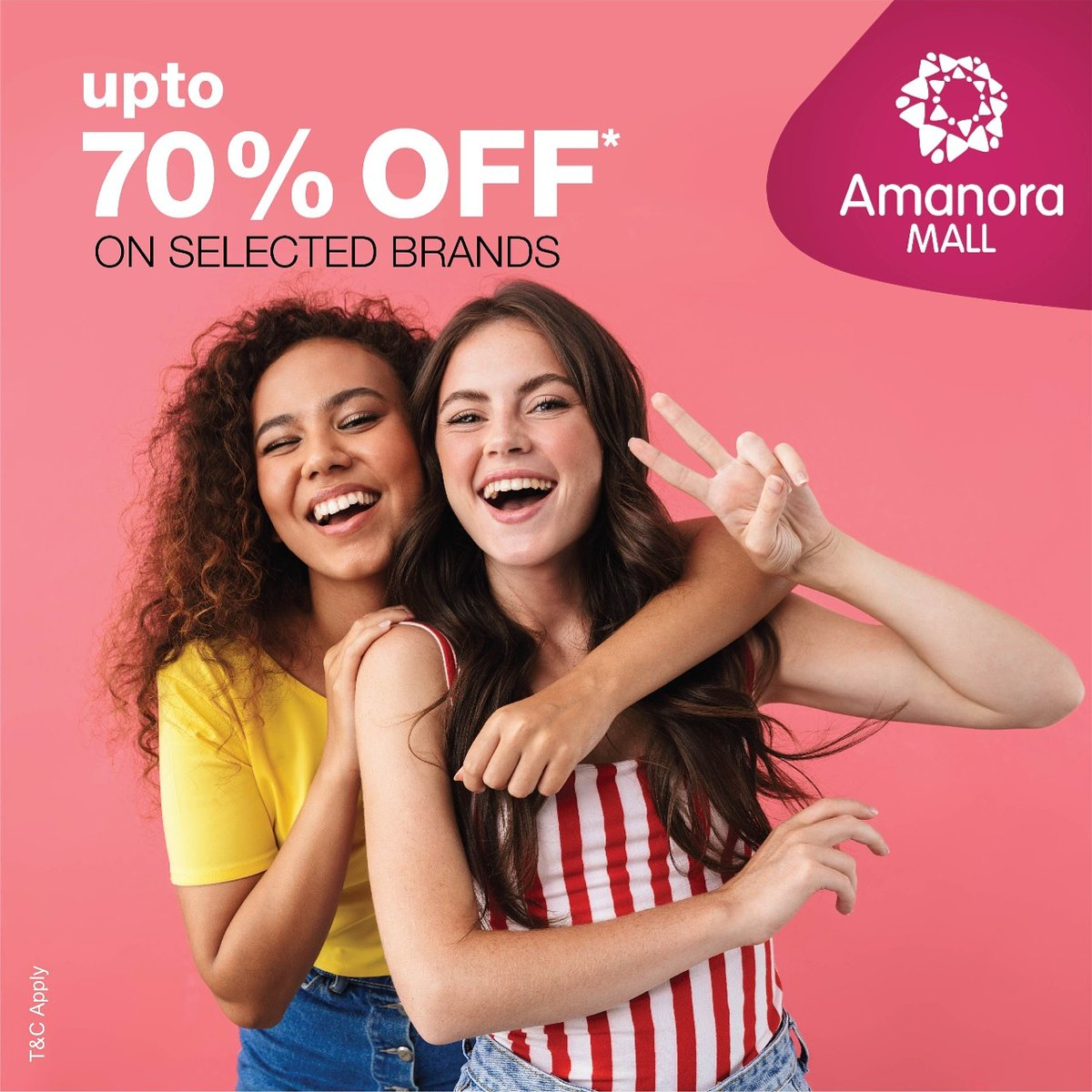 Amp up your style quotient with the greatest fashion sale at @AmanoraMallPune . Upto 70%off on top fashion brands. T&C apply. #Amanoramall #Sale #Eoss #Discount #Fashion #Fashionistas