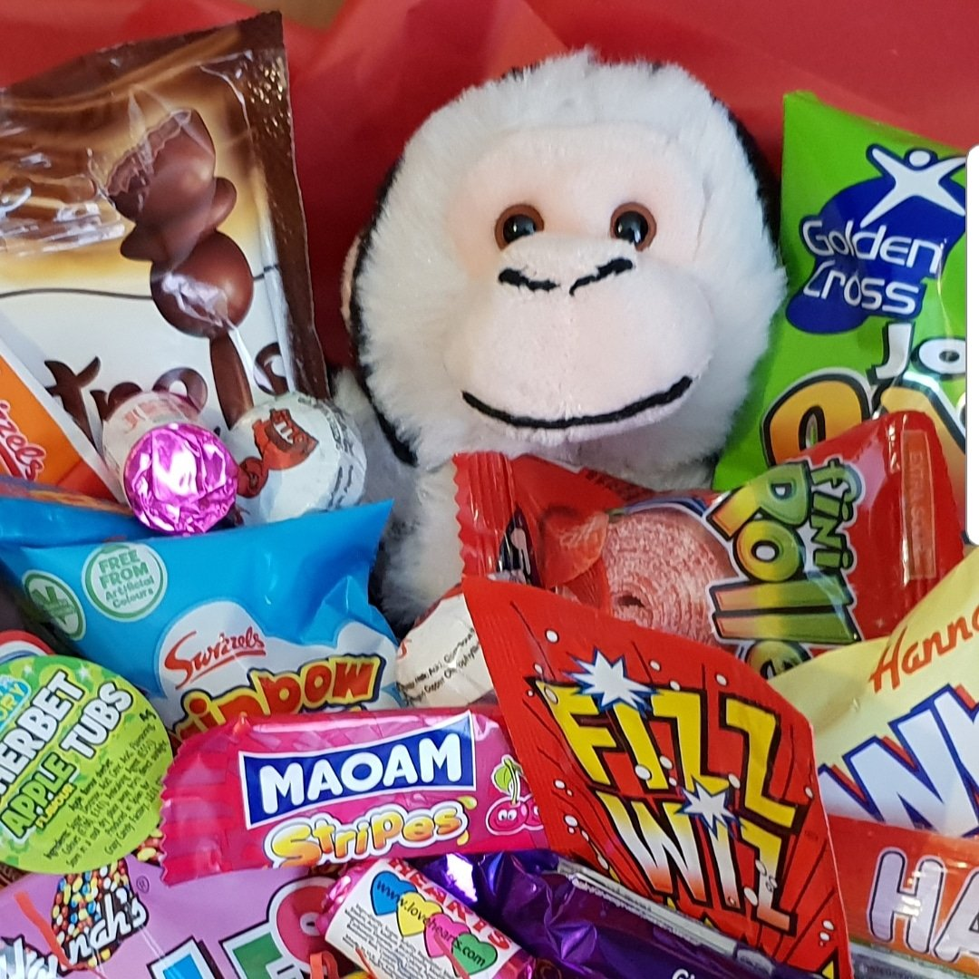 Make someone SMILE with a cheeky Monkey Hug Box 🐵  #ThinkingOfYou #Birthday #Thanks #Free #Personalised #Message #Gift #celebrate #GetWell #sorry #ThankYou #smile #Congratulations #monkey #hug #Love #missyou #miss #you #hug #giftideas