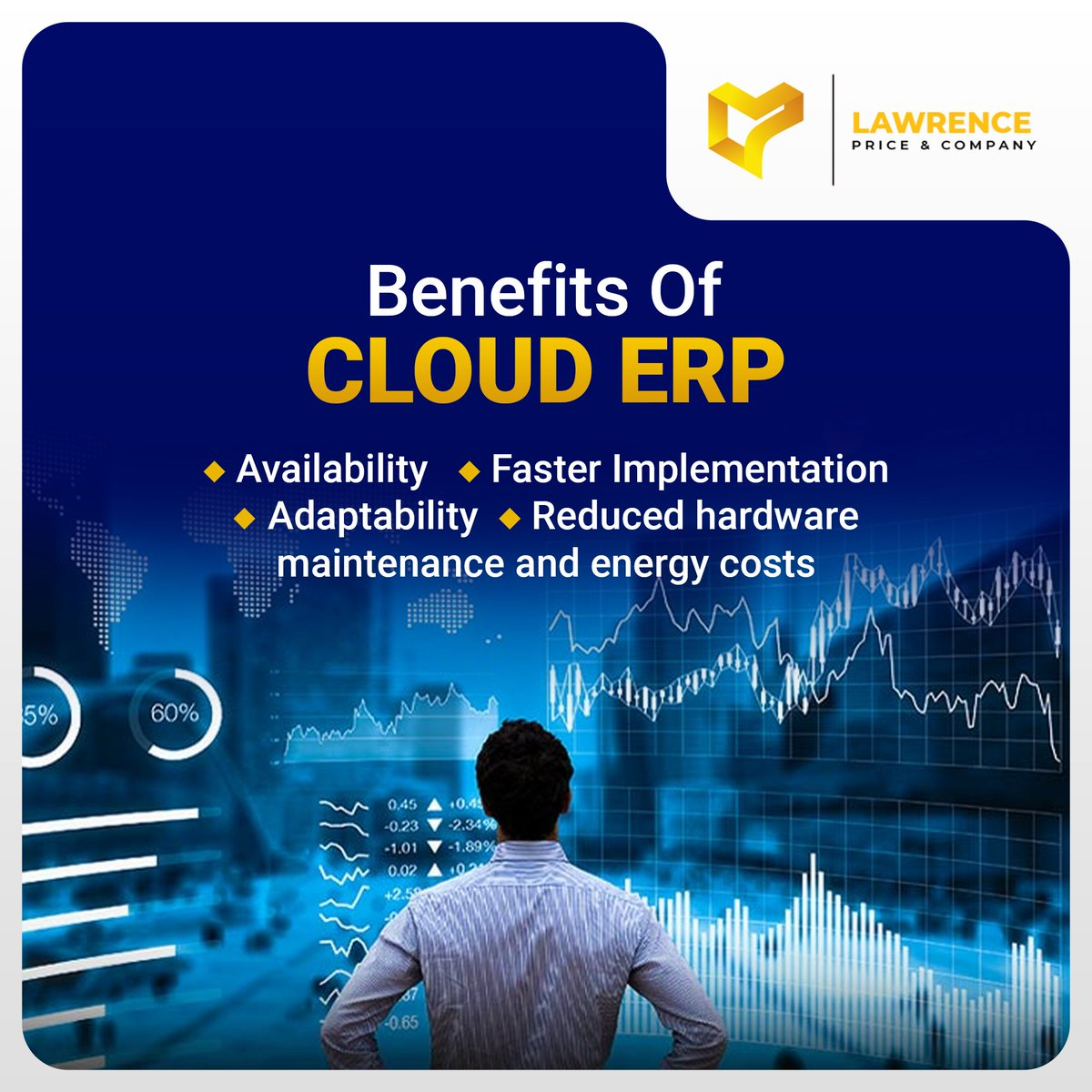 In today's world, customers expect faster turnaround times in the delivery of products and services, greater reliability, and lower costs. This has led to a greater demand for Cloud ERP solutions.  Here are some benefits of Cloud ERP solutions.  #Lptips #tuesdayvibe