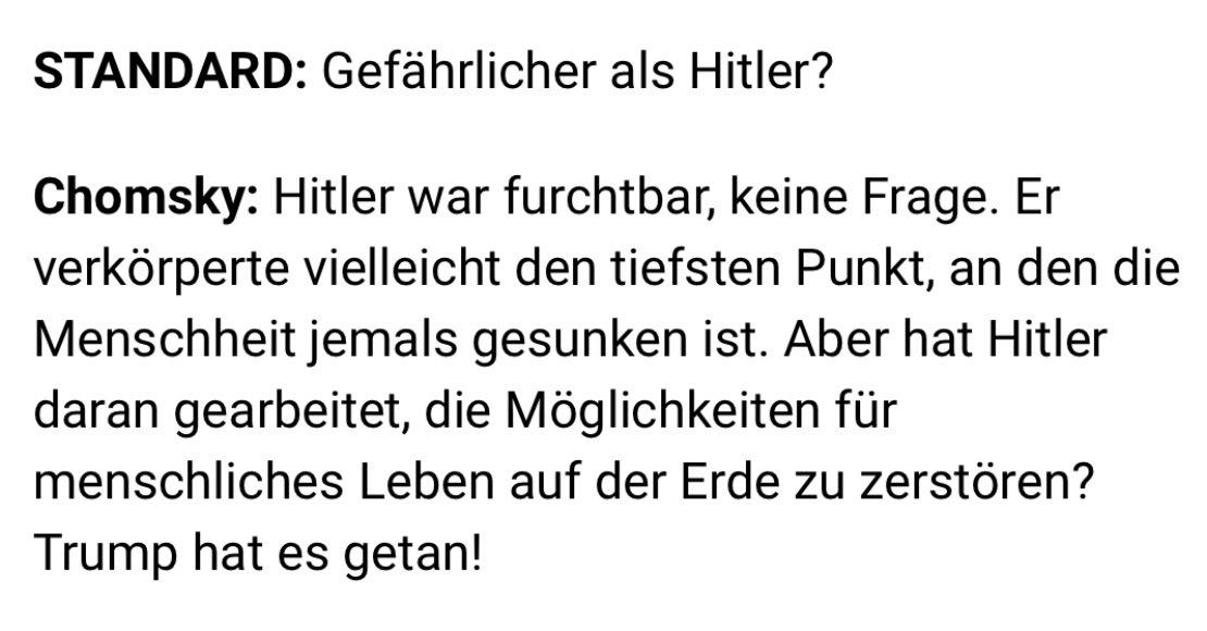 Wie verblendet sind bitte Menschen, die Trump für schlimmer als Hitler halten?