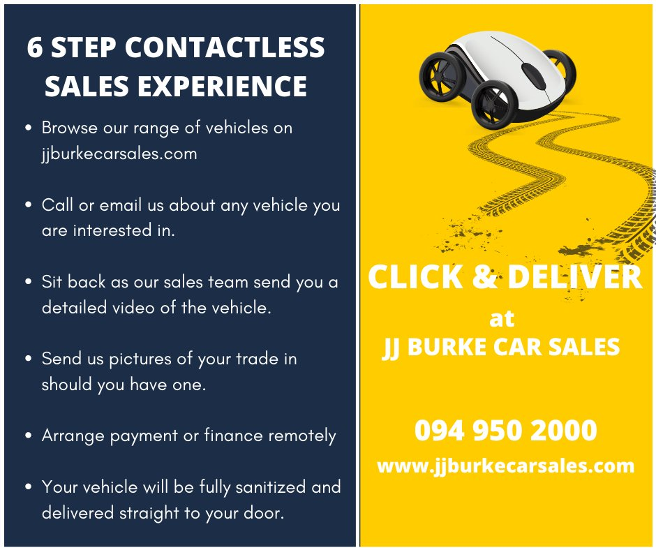 CLICK & DELIVER Now available at JJ Burke Car Sales. Call us on 094 950 2000 or visit  #ClickandDeliver