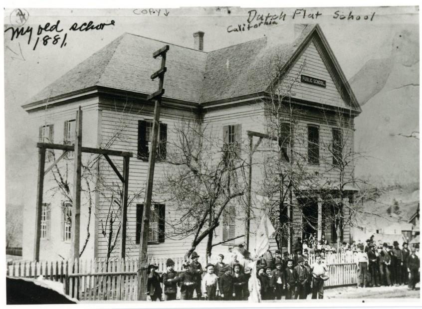 Dutch Flat School  c. 1881  #tuesdayvibe  #COVID19  #COVIDVaccination