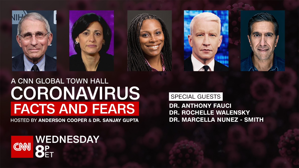 Dr. Anthony Fauci and top doctors from the Biden Covid-19 team join Anderson Cooper and Dr. Sanjay Gupta for Coronavirus: Facts and Fears. Live Wednesday at 8 p.m. ET