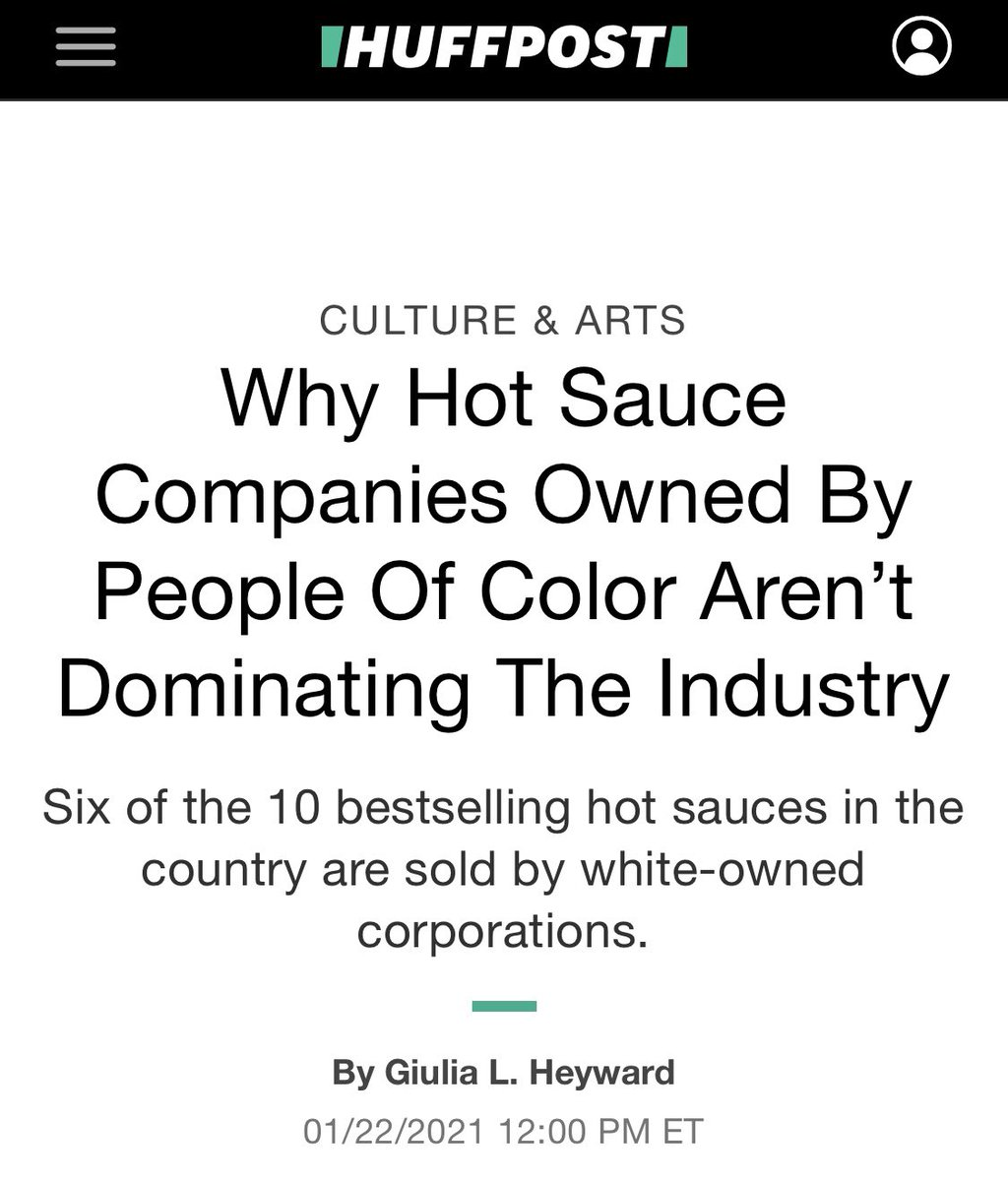 We are thrilled about our recent feature in the @HuffPost! The article is about the rise of the hot sauce industry and highlights challenges faced by minority-owned companies. @HuffPostFood #tuesdaymotivations #Foodie