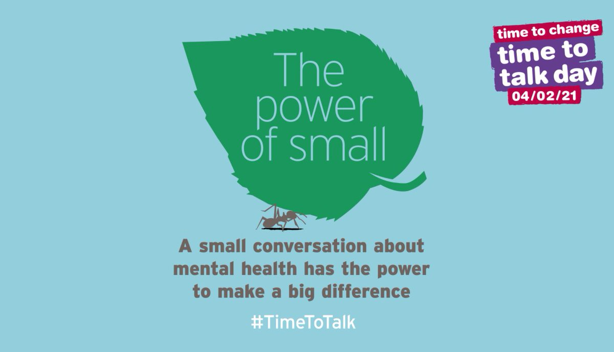 Save the date! Thursday 4th February 2021 is 'Time to Talk' Day to get your club or team talking about #mentalhealth. Take a look at @TimetoChange 's sports activity pack for ideas and inspiration to get people talking on this Time to Talk Day https://t.co/KKVVOTNVMh