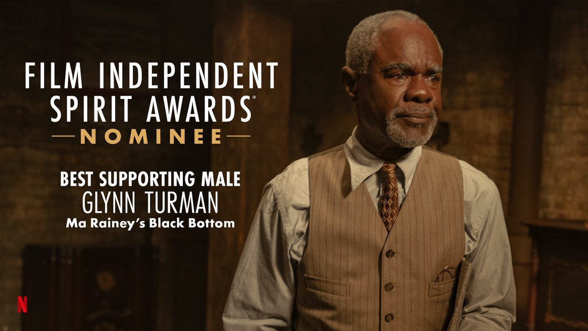 .@GlynnTurman is nominated for Best Supporting Male for his performance in @MaRaineyFilm! #SpiritAwards