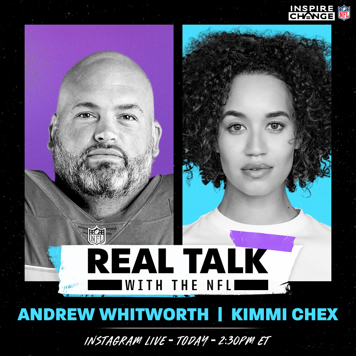 A #WPMOY nominee for the third straight season, @RamsNFL OL Andrew Whitworth joins @kimmichex TODAY at 2:30 p.m. ET on our IG Live:  #InspireChange