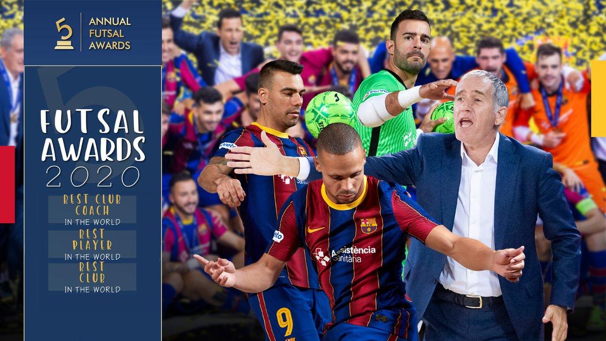 🥇 Ferrao, Plaza i el Barça repeteixen com els Millors del Món  👉    🌍 Ferrao y Lozano, primero y segundo Mejor Jugador del Mundo; Plaza Mejor Entrenador del Mundo; y Barça Mejor Club del Mundo en los @futsalplanet97 Awards 2020 👉