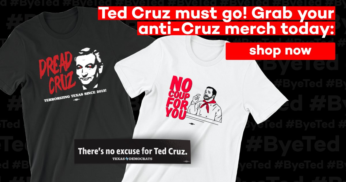 There's NO excuse for Ted Cruz.  Get your #TedCoup merch today: