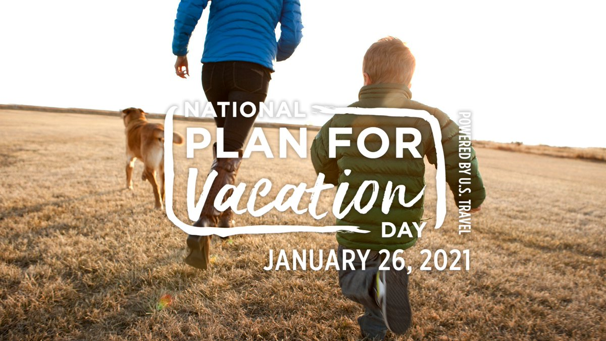 It's National #PlanForVacation Day! If you've been dreaming of vacation, today's the day to start planning #LetsMakePlans 📍📅