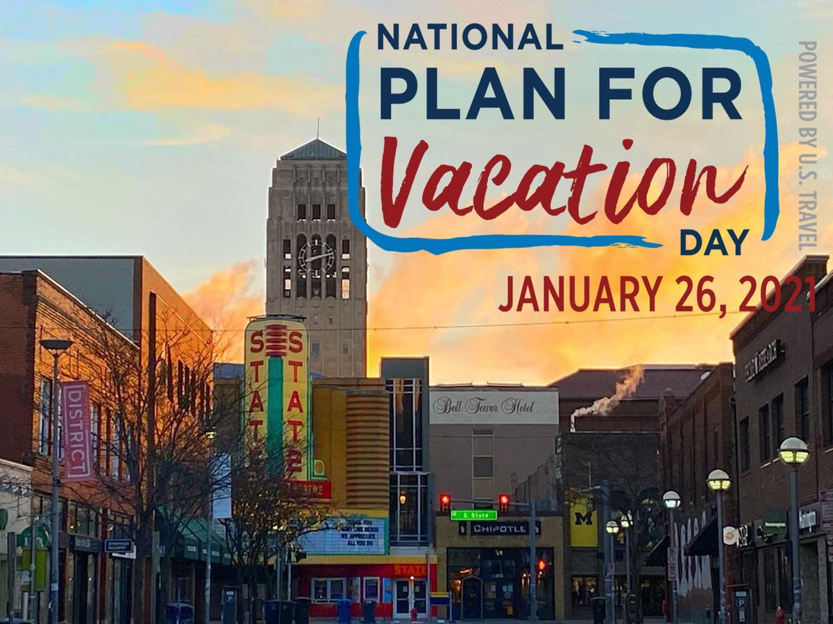 Ready for a vacation? The best way to get ahead is to start planning. Traveling to #AnnArbor when it is safe to visit? We can help! Click on the link for tools and tips!  #AnnArbor #DestinationAnnArbor #AlwaysA2 #PlanForVacation #LetsmakePlans #LetsGoThere