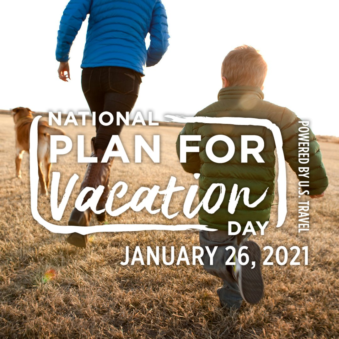 6 in 10 Americans say they desperately need a vacation. TODAY is your chance to pull out the calendar and start dreaming— it's National #PlanForVacation Day!