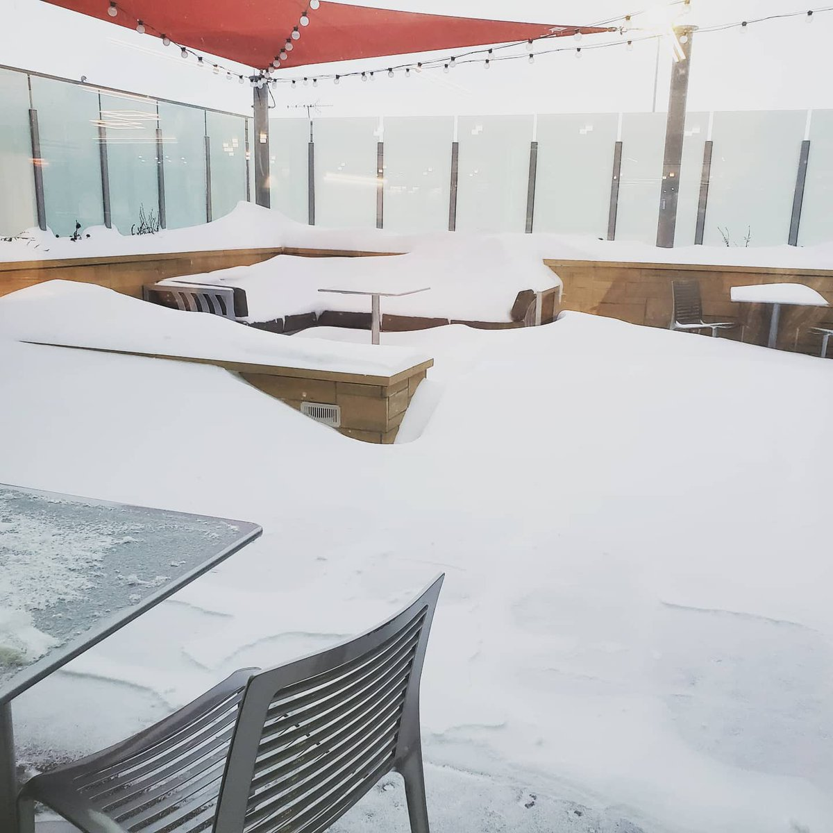 It is definitely not a patio day. Dreaming of sunshine and the beach. #Flylocal #flyCID #PlanForVacation