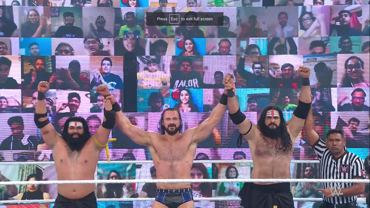Drew McIntyre and Indus Sher def. Jinder Mahal and Bollywood Boyz (**1/2) #WWESuperstarSpectacle
