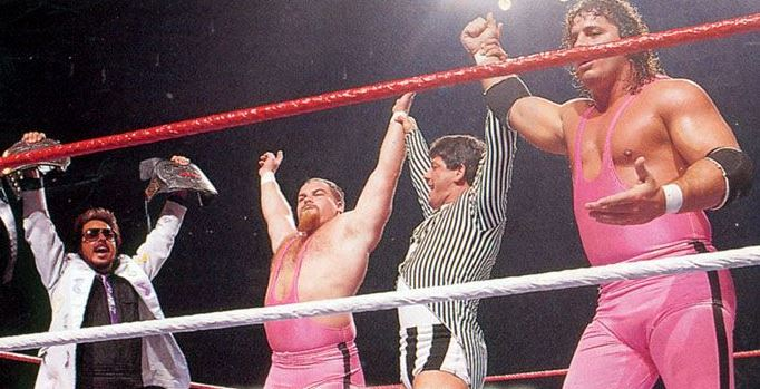 Jan 26, 1987: The Hart Foundation won their 1st (of 2) WWF Tag Team titles with the help of referee Danny Davis. #80s They defeated The British Bulldogs and it didnt actually air until February 7th. @RealJimmyHart