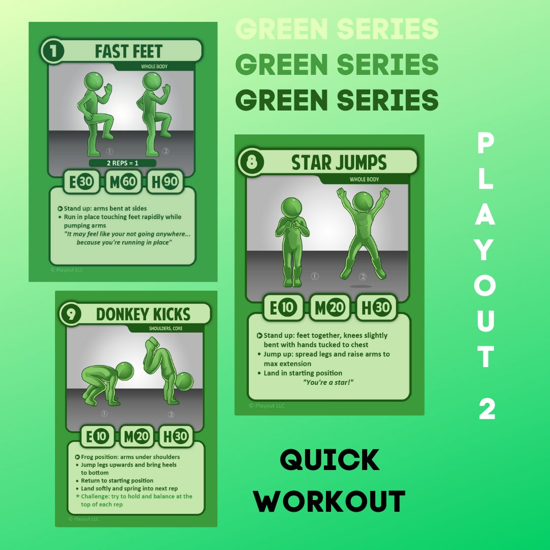 Cold outside? Warm up with a quick workout!💪😎 #playout #physed #exercise #fitness #motivation #familyfun #cardgames #crossfit #weightlifting #coach #teacher