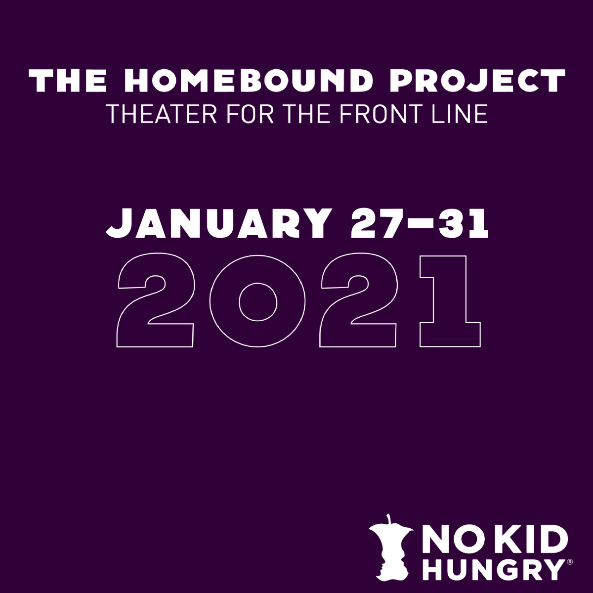 Join #TheHomeboundProject for their special sixth series of original, view-at-home theater benefitting #NoKidHungry! Check it out and get your tickets today. 🎭
