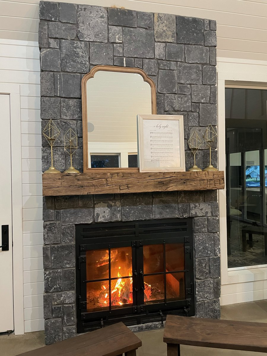 Our indoor/outdoor wood fireplaces are designed to have air-tight sealed doors, the largest viewing areas on the market, & are available with an array of finishing options to make your fireplace unique to you. Learn more:  #tuesdayvibe #design #fireplaces