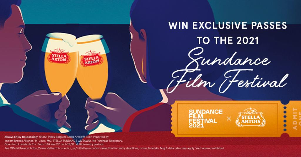 Pour yourself an ice-cold Stella and grab the 🍿. As a proud sponsor, we're giving away exclusive passes to this year's @sundancefest! 🎟 🍻   RT with #StellaxSundance #Giveaway & follow us for a chance to win VIP tickets.  Link to rules: