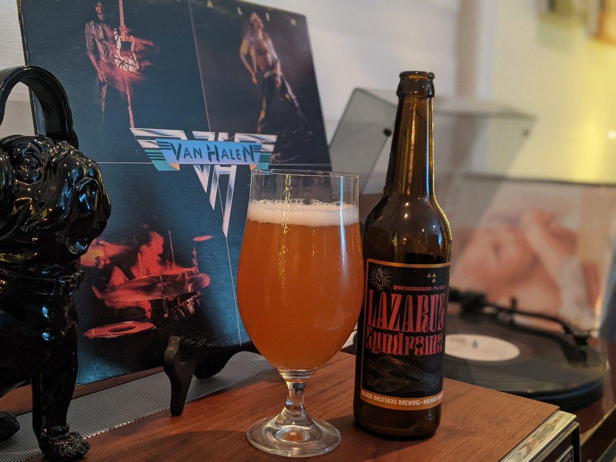 Van Halen listening party, all day, to celebrate Eddie Van Halen's birthday. Lazarus Syndrome is what we all wish had happen with the guitar great, but his style will live on forever. 🎸 🤘 #VanHalen #EddieVanHalen #vinylcommunity #RockAndRoll #CraftBeer