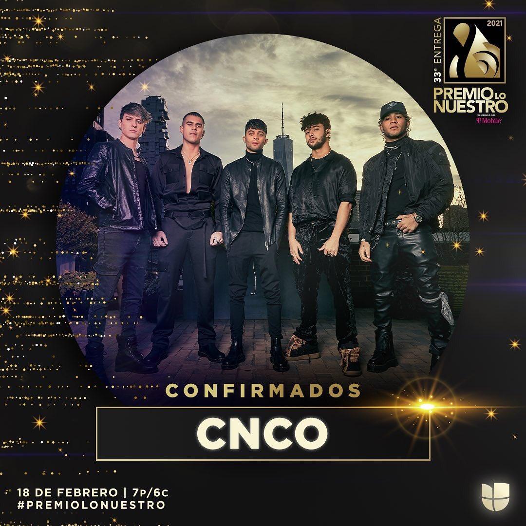.@CNCOmusic se presentará por primera vez en vivo con temas de su nuevo disco 'Déjà Vu' en #PremioLoNuestro