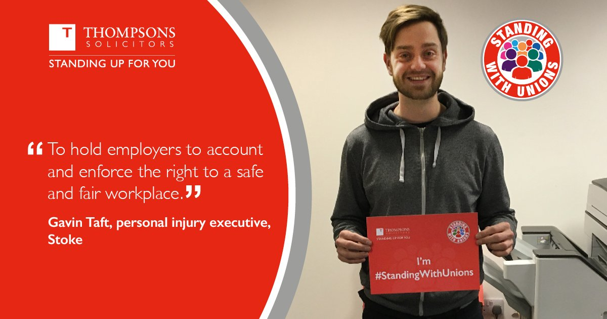Trade unions play a crucial role in society, defending workers' pay, working conditions, job security and safety, and driving up standards in work. See why one of our personal injury specialists, Gavin Taft, is #StandingWithUnions.