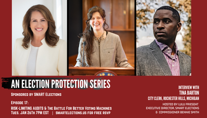 Fascinating forum this evening 7pm EST! Rochester Hills MI City Clerk @TinaLBarton joins our #ElectionProtection forum. She participated in a full #handcount in #AntrimCounty MI & was also involved in a statewide pilot #RiskLimitingAudit of #2020Election.