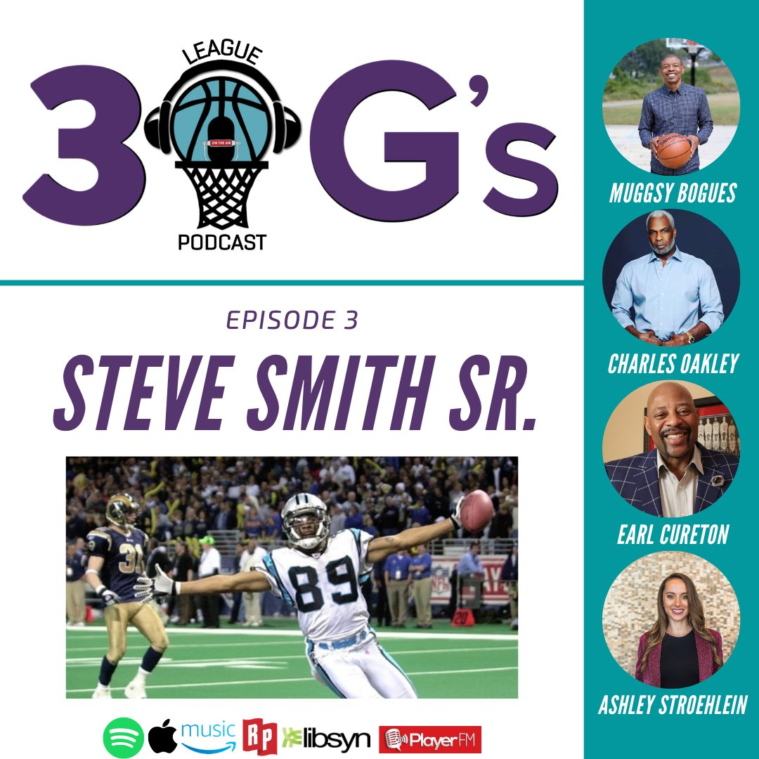The third episode of @3LeagueOGsPod features an OG from the #NFL: @CutToIt host and founder of the @SteveSmithFDN #SteveSmithSr joins @MuggsyBogues @CharlesOakley34 @EarlTheTwirl and @ashstro! Check it out:  Apple:   YouTube: