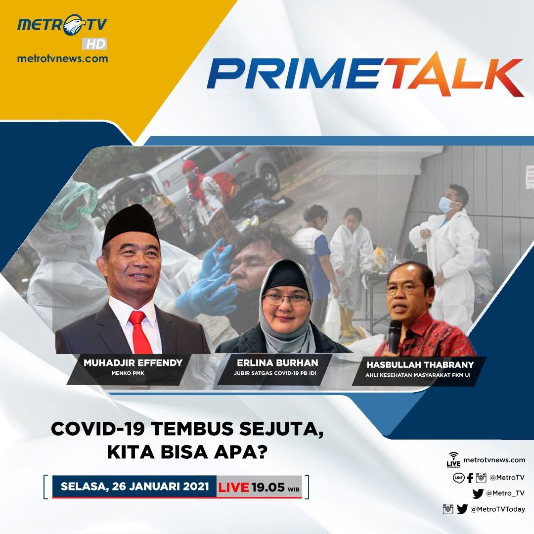 Selengkapnya di #PrimeTalkMetroTV hari Selasa (26/1) LIVE pukul 19.05 WIB di @Metro_TV  #pandemicovid19 #indonesiamelawancovid19 #vaksincovid19 #kasuscovid19