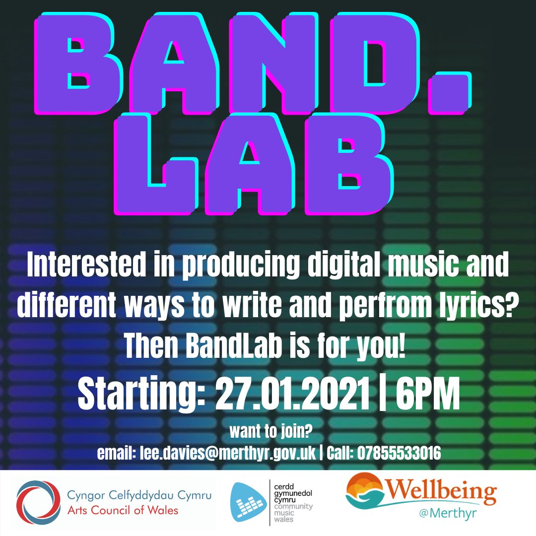BandLab starts tomorrow! Final chance to sign-up!!   #music #digitalmusic #wellbeingmerthyr #redhousecymru