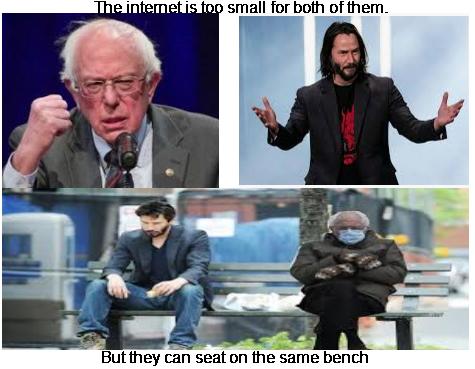 #bootwtselfieday #BernieSanders #Berniememes #keanureeves Dream team :D
