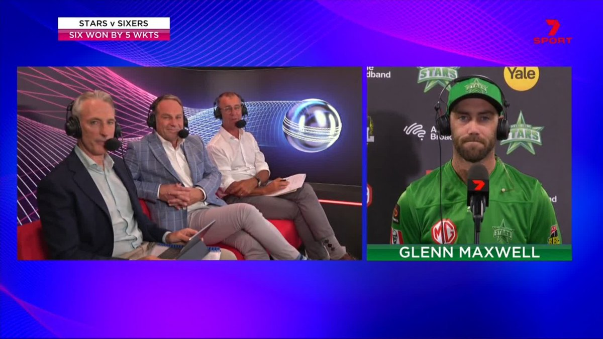 """""""Not a lot went right, probably right from the word go we were pretty much on the back foot.""""   Glenn Maxwell talks about @StarsBBL's season #BBL10"""