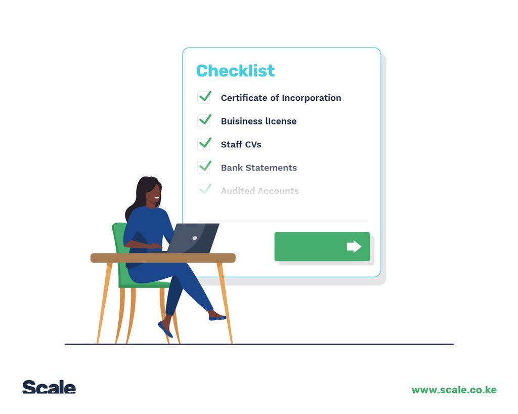 ✅Certificate on Incorporation ✅Business license ✅Team CVs ✅Certified bank statements ✅Audited accounts  #Work with a TENDER CHECKLIST to ensure that you always attach all the relevant/required #documents with every #proposal you submit. https://t.co/xer4yUZNJz https://t.co/sLyCeQxXp8