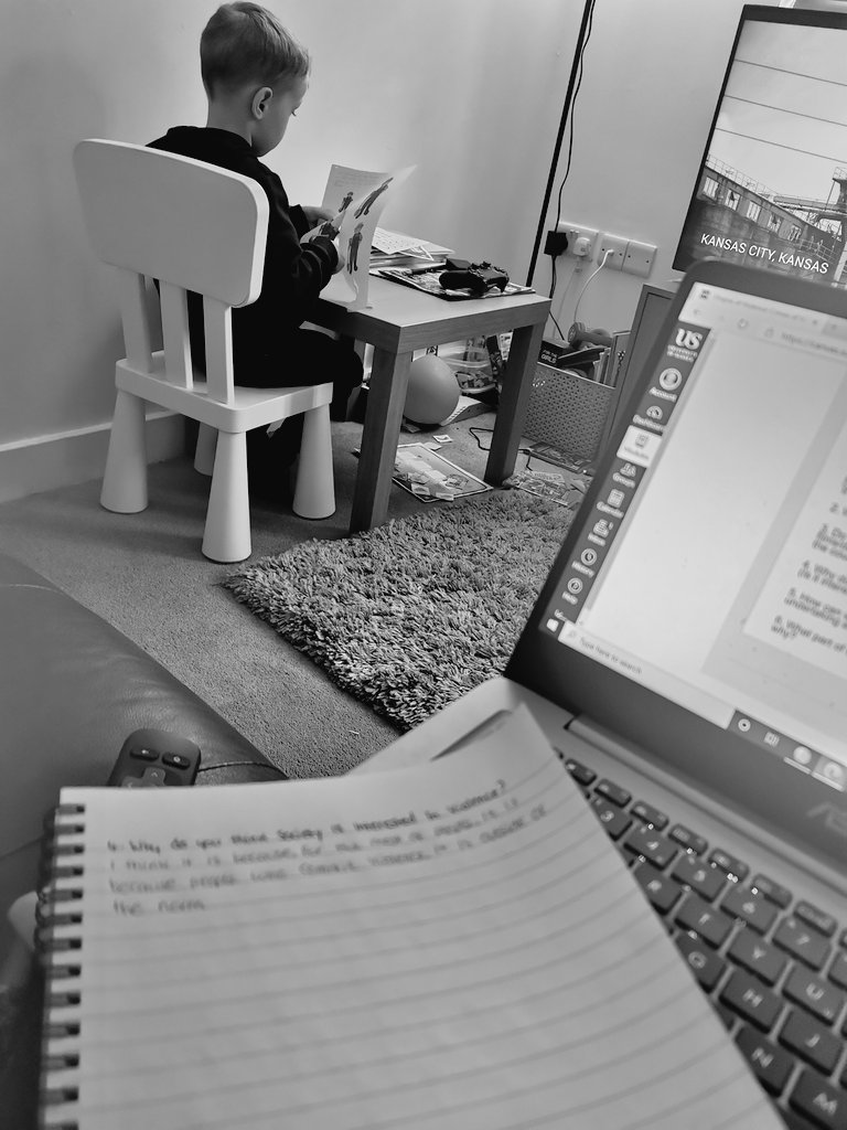 Working hard in our household today.  The boys doing his school work & I'm back to university work.  #homeschooling #University #work #studying https://t.co/E9jPd1I6Cd