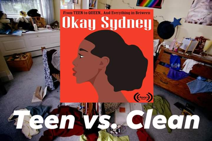 TEEN VS. CLEAN: Sydney talks about her #bedroom and why most teens' rooms look the same. Plus #motivational tips for #teens and their #parents. New episodes of OKAY SYDNEY podcast every #Thursday. #teentoqueen #podcast