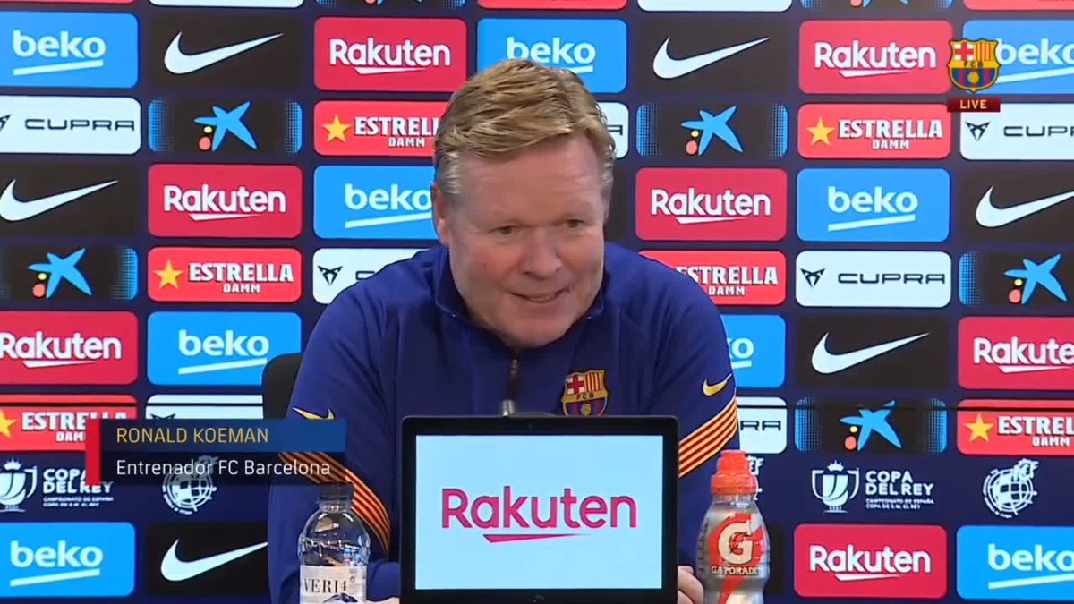 """🔊 @RonaldKoeman: """"It will be a complicated match at a tough ground. We have to be focused to be able to go through to the next round""""  ⚽️ #RayoBarça"""