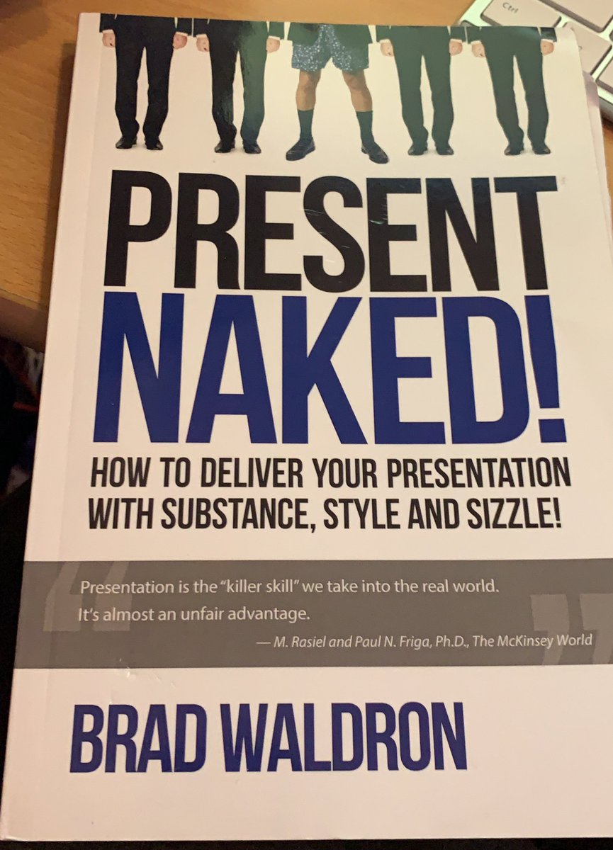 As someone whose done a lot of presentations - far too many on Zoom and Team lately - I can highly recommend this book by @bradwaldron on how to improve your skills. Before you ask, no, I haven't presented naked! 😂#tuesdaymotivations #remotelearning #zoom #BookWorm #BookReview