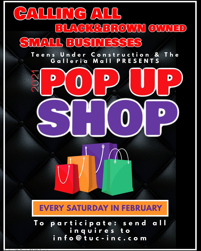 The Galleria at White Plains Good Morning We want to highlight you. Black Brown Owned Business Pop Up Shop during #february An opportunity to show who you are and what you do #fubu #supportthecause  #smallbusiness #blackownedbusiness #brownownedbusinesses #popupshop #galleriamall