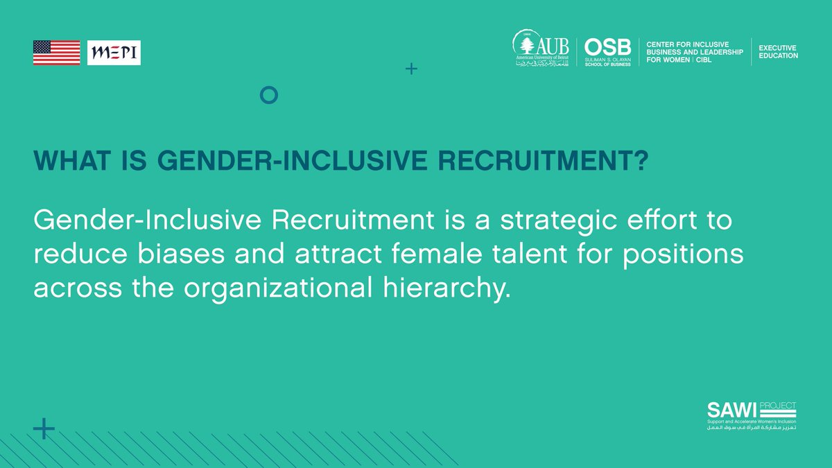 Start implementing #inclusive recruitment strategies.  Gender-Inclusive Recruitment, is the process of changing #HR practices to better connect with, interview, & hire a diverse set of individuals through understanding & valuing different backgrounds.  https://t.co/apwoI0YWtZ https://t.co/1Dj1EXpYMx