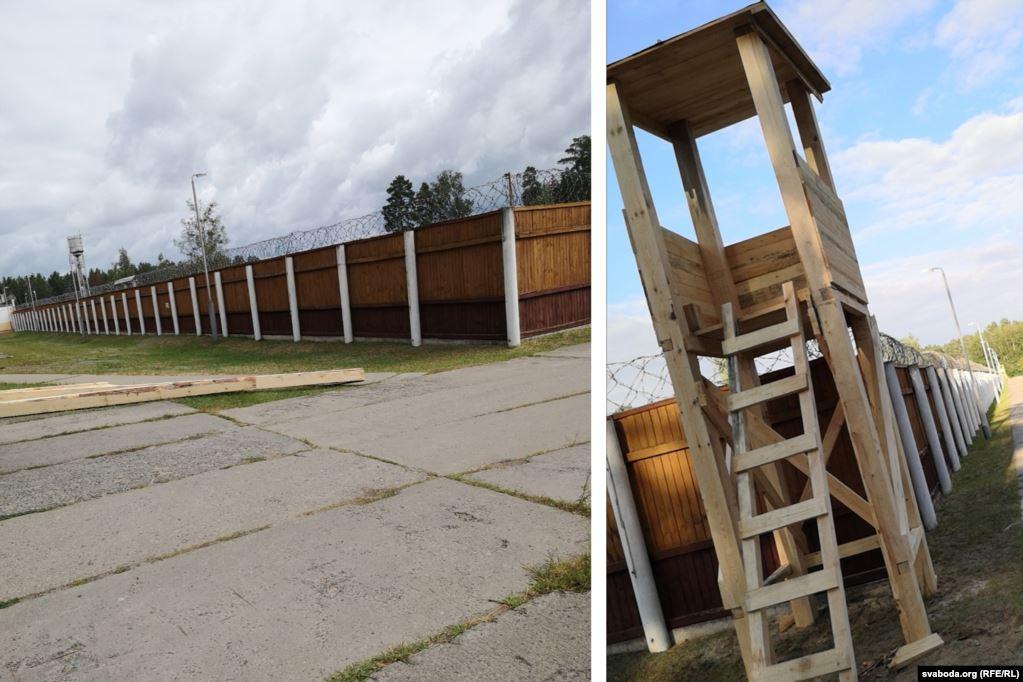 #Belarus Camps for protesters have been a real plan. @RFERL was able to get these pictures from a newly built camp near #Slutsk in August. I remember people saying they were detained and held in the middle of nowhere,behind high fence with towers and guards.The camp was destroyed
