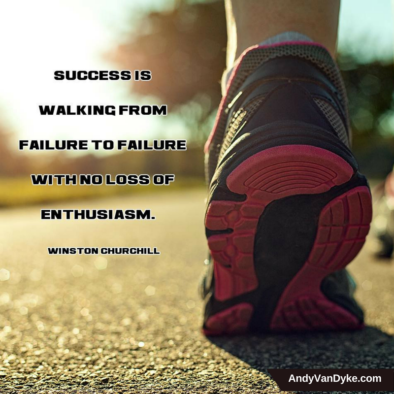 Success is walking from failure to failure with no loss of enthusiasm! #JustDoIt  #KeepGoing