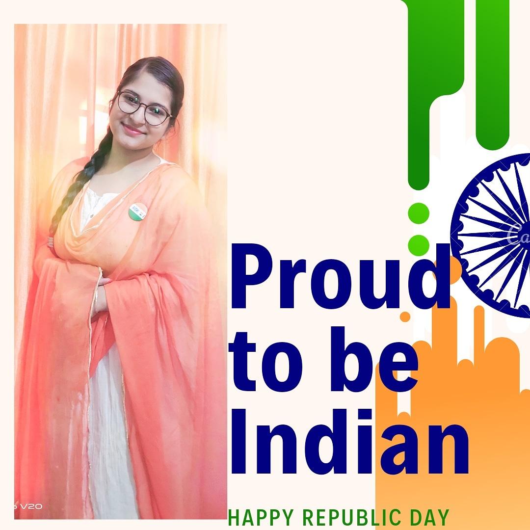 Happy Republic day 🇮🇳 Proud to be Indian  #komalrohilla #like4like #love #food #beautiful #instadaily #indianarmy #follow #instalike #fashion #smile #happy #likeforlike #tbt #family #picoftheday #repost #nature #tagsforlikes #universequotation #instagood #summer #friends #girl
